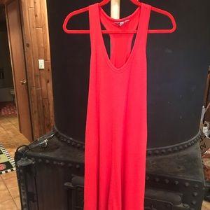 Athleta Maxi dress lined high/low